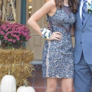 Prom girl tight fit homecoming dress